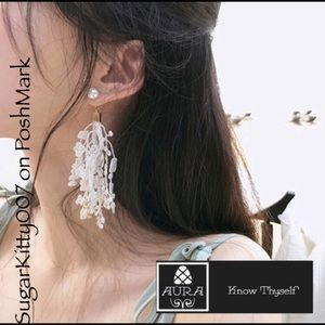 Delicate Lace Earrings Wedding Boho Statement